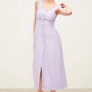 Zara tweed dress with gemstone buttons